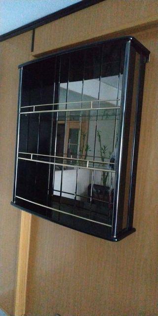 Mueble / Barra de bar de pared con espejo