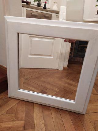 Espejo madera blanco