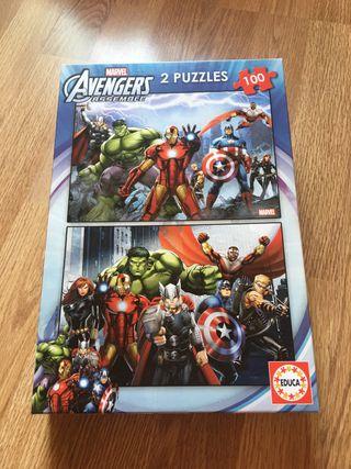 2 puzzles Los Vengadores