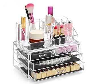 Maquillaje Caja Cosméticos Transparente Acrílico
