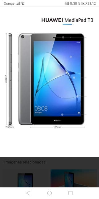 tablet Huawei media pad t3 8 4g plata
