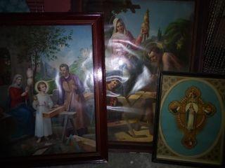 lote de cuadros religiosos antiguos