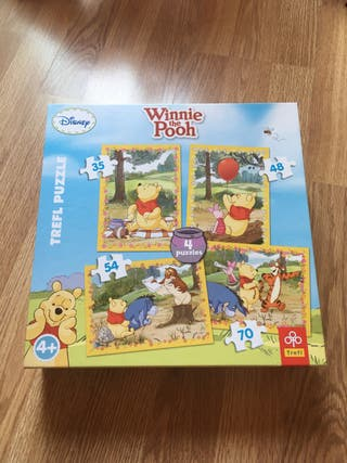 4 puzzles Winnie the pooh