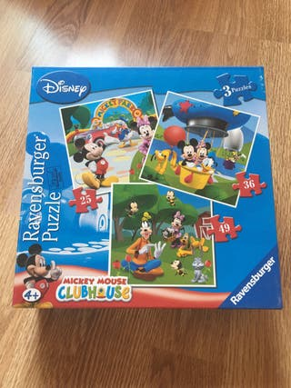 3 puzzles Mickey Mouse