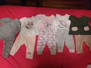 Lote pijamas invierno 1-5 meses