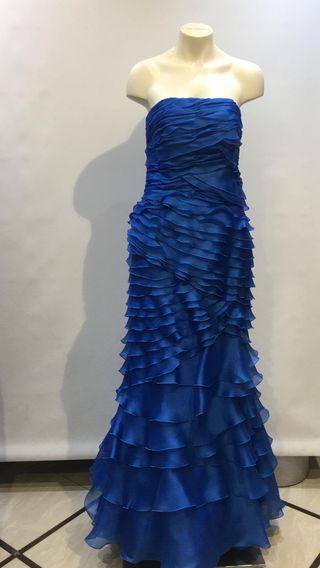 Vestido elegante bodas noche Patricia Avendaño
