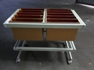 carrito archivador con ruedas