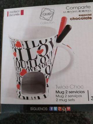 Mini fondue de chocolate