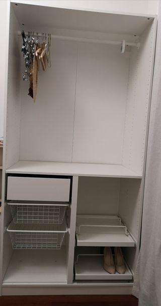 módulo vestidor ikea , armario vestidor