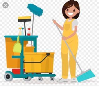 Mujer para servicio de limpieza