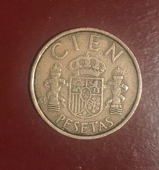 Moneda antigua, cien pesetas
