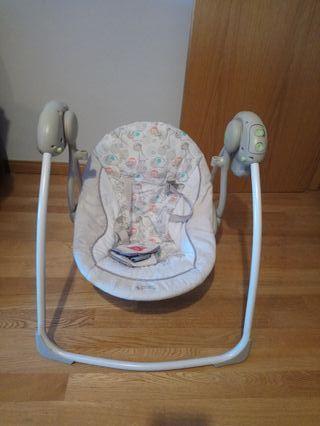 Columpio bebé con música y movimiento