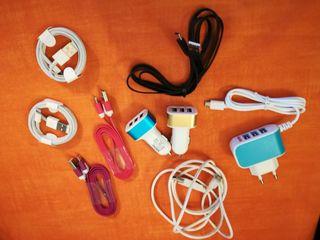 Cargador Triple USB, coche, Cable Type C, HDMI
