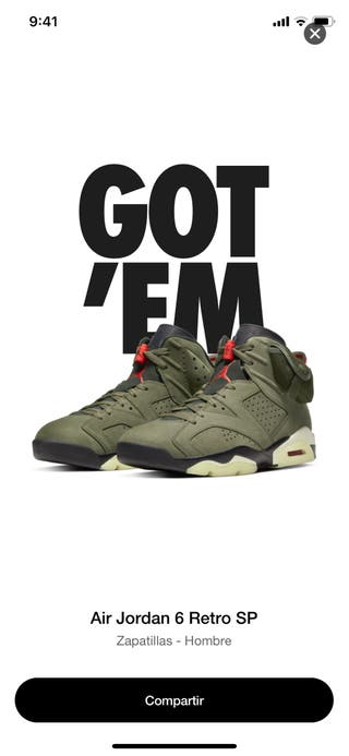 Jordan VI Travis Scott 11US