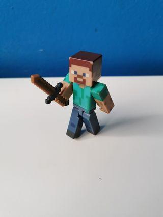 Steve de minecraft con los muebles.