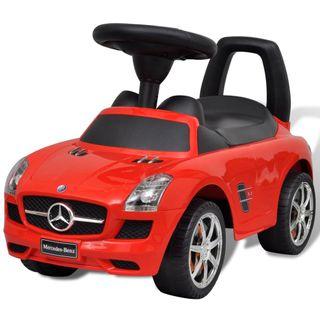 Coche correpasillos para niños Mercedes Benz rojo