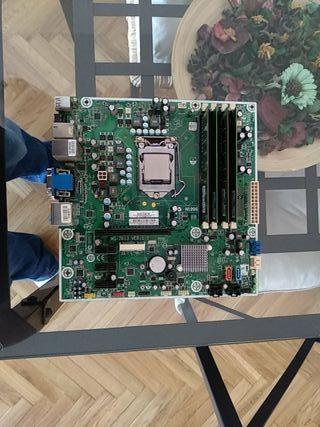 placa base procesador y memoria ram