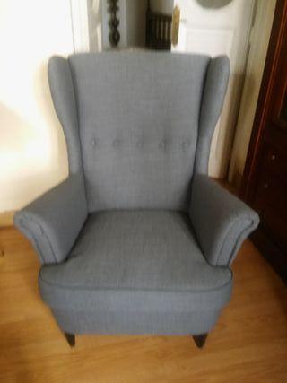 2 sillones orejeros NUEVOS IKEA STRANDMON NORDVA