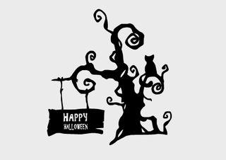 Pegatinas árbol halloween vinilos decorativos