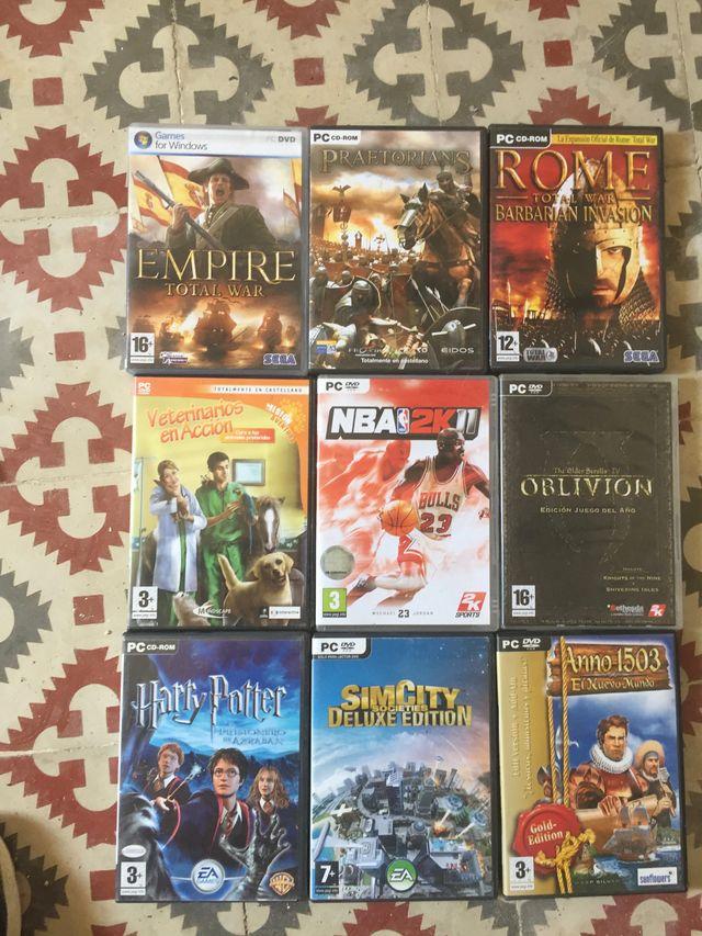 40 juegos para PC + 5 juego para PS3