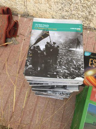 34 libros sobre guerra civil en España mes a mes