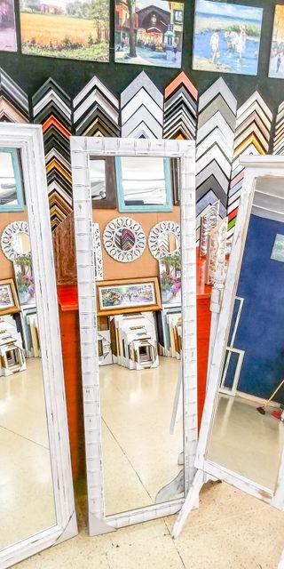 NUEVO Espejo Vintage 175x55 Blanco