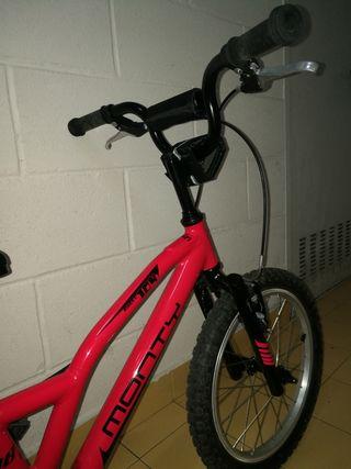 """bicicleta monty de 18"""" para niñ@ de 5 y 8 años"""