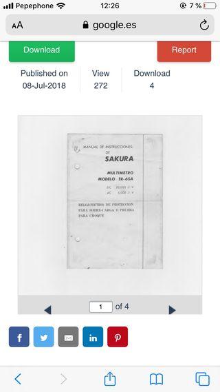 Tester analógico Sakura Vintage