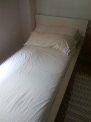 cama individual ikea 90x200 blanca
