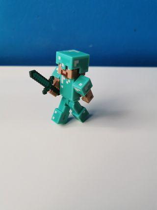 Steve de minecraft con la armadura.
