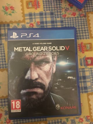 Metal Gear Solid V Ground Zeroes para ps4