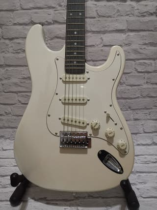 guitarra eléctrica academy white