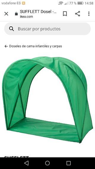 capotas cama infantil ikea verdes