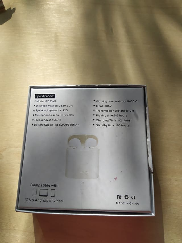 wireless headphones i7S TWS