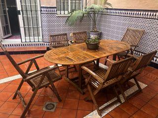 Juego mesa jardin y terraza. Alabau-teka.