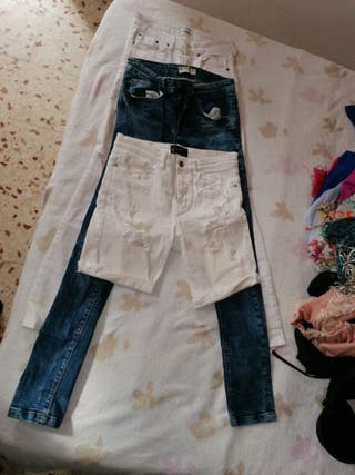 pantalones 3 euros cada uno