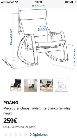 silla Poäng mecedora Ikea
