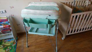 Bañera cambiador para bebés (2 en 1).