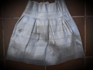 Falda rígida plata