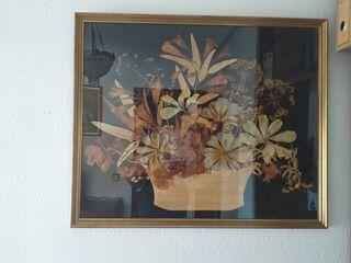 Cuadro de flores secas
