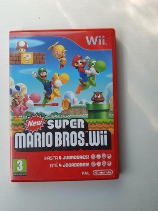 juego wii- Super Mario Bros