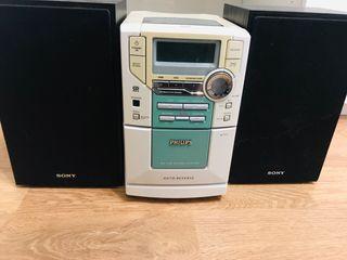 Equipo de sonido Philips con baffles sony