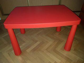 Mesa para niñ@s Ikea Mammut, mamut, int/ext rojo.