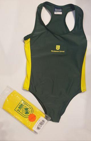 Bañador y gorro piscina uniforme Montessori.NUEVO.