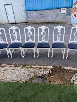 6 sillas de castaño a 25 euros la unidad