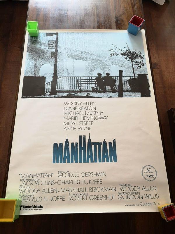 "Póster vintage película ""Manhattan"" de Woody Allen"