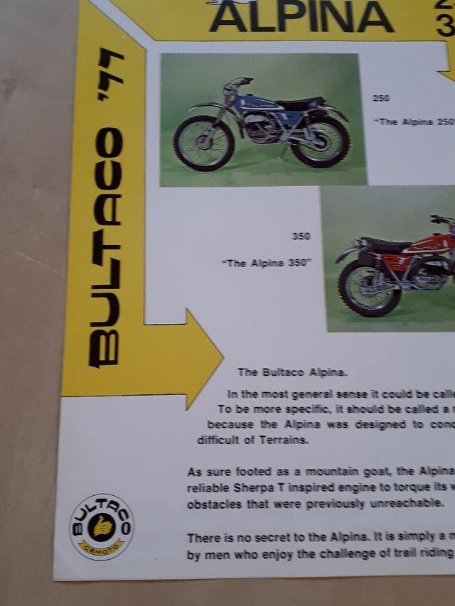 folleto publicitario Bultaco alpina (USA)