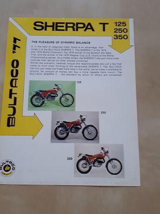 folleto publicitario Bultaco sherpa (USA)