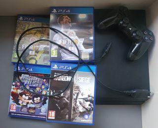 PlayStation 4 + mando + juegos