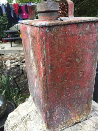 Old petrol can